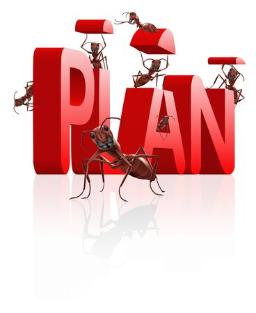 plan planning strategy to reach goal and be successful success depends on oragnization photo
