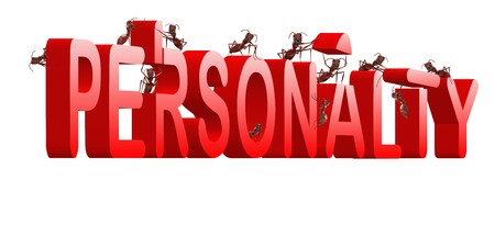 personality building strong and powerful person psychology red text photo