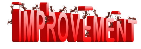 improvement building by ants innovate and improve make things better Stock Photo - 7790526