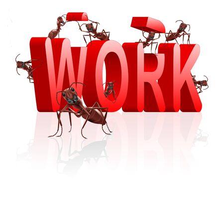 arbeiten: Arbeit arbeiten oder Karriere Job und Besch�ftigung Konzept Lizenzfreie Bilder