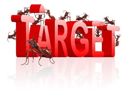 targetting: target building aim at goal be successful realise dream targetting