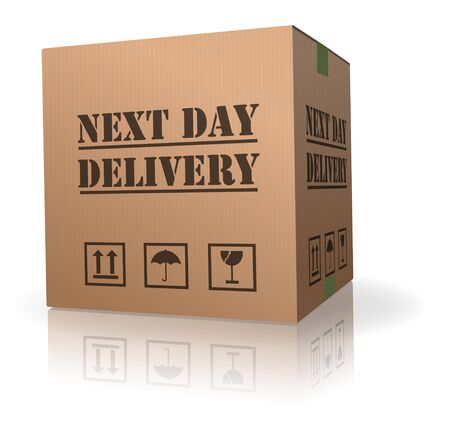 next day delivery urgent package shipment deliver order Stock Photo - 8013043