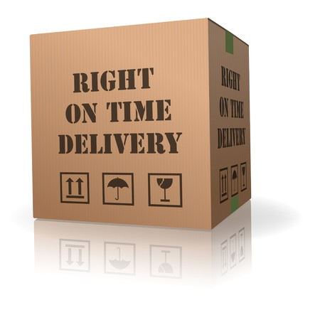 ship package: right on time delivery shipment box logistic package sending Stock Photo
