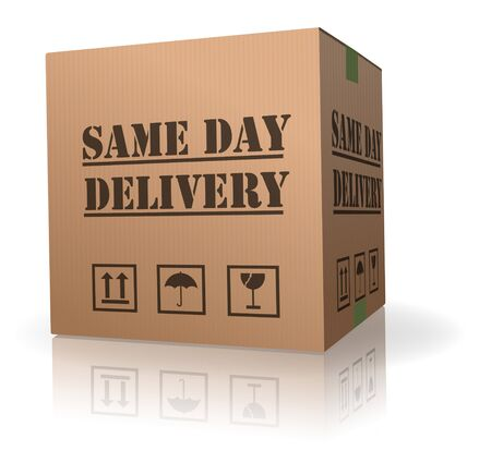 package delivery same day shipment urgent and quick Stock Photo - 8013050