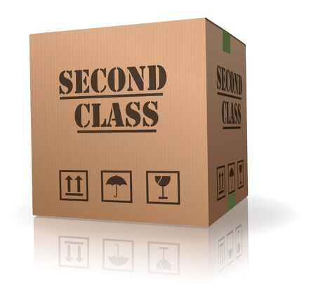 package sending less urgent second class shipment Stock Photo - 8013041