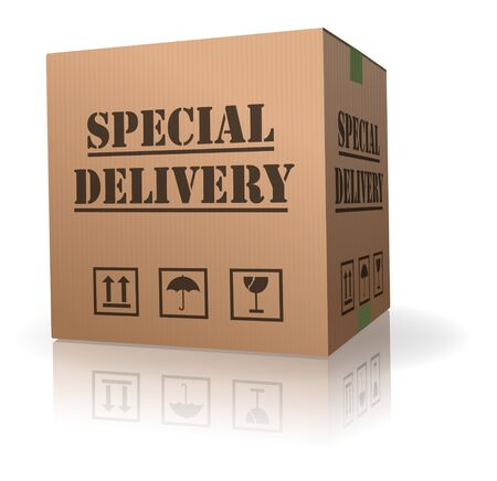 ship package: special delivary important shipment special package sending Stock Photo