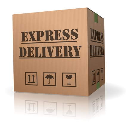 express delivery fast sending speed parcel posting Stock Photo - 8013051