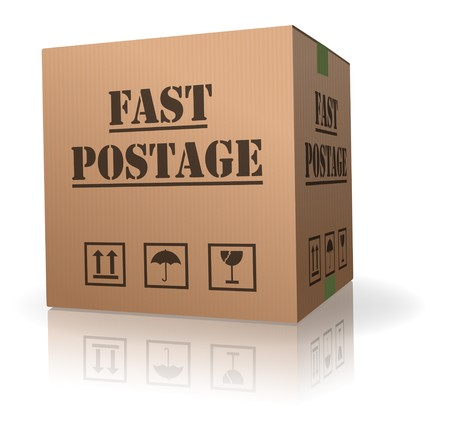 fast post delivery package sending logistics Stock Photo - 8013040