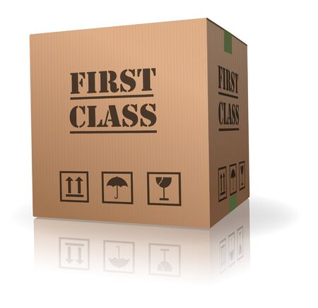 first class delivery or shipment important package sending Stock Photo - 8013038