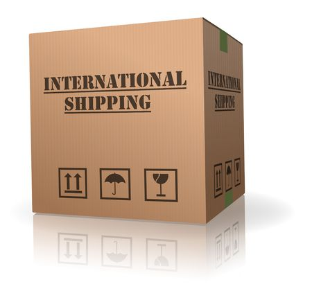 card board box international shipping order package delivery photo