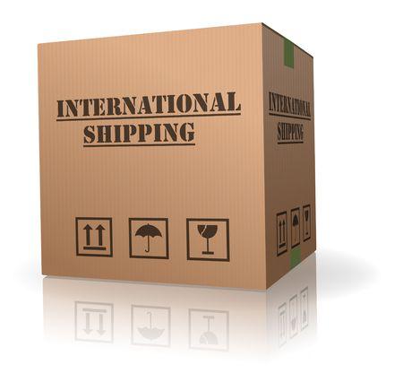 boîte de carton expédition internationale livraison de colis