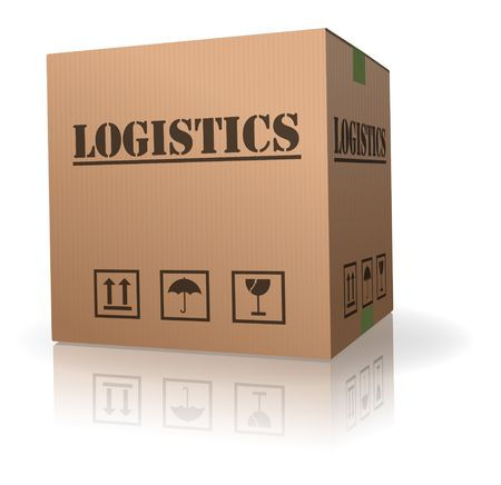 cardboard box logistics storage container Stock Photo - 8108283