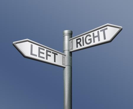 left right road sign equal choice photo