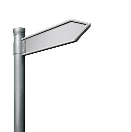 blank road sign arrow with copy space Zdjęcie Seryjne