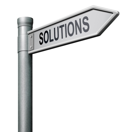 solve: find solutions road sign indicationg way to problem solving