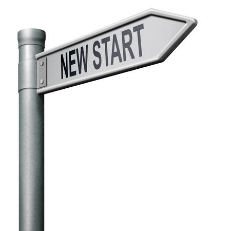 new beginning: new start restart new beginning