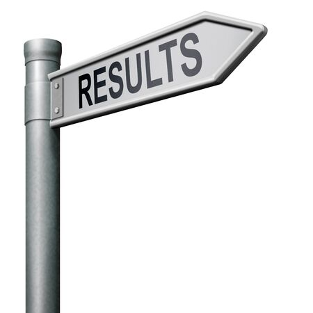 business results: reach goal get results and succeed business success be a winner in business elections poll or sports