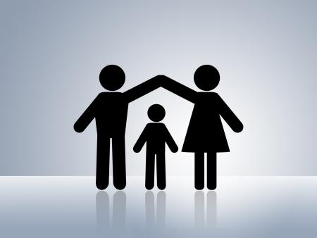 ubezpieczenia: Papier łańcucha danych liczbowych dziecko ochrony bezpiecznego ciepłym domu rodzinnym