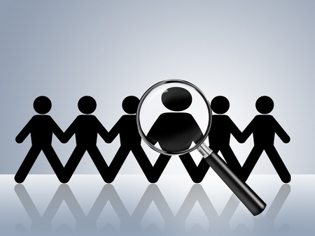 recruit: paper chain figures wanted employer job vacancy head hunter