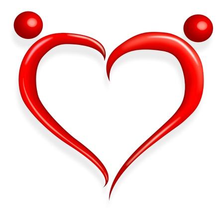 declaracion de amor: amor rojo coraz�n feliz d�a de San Valent�n