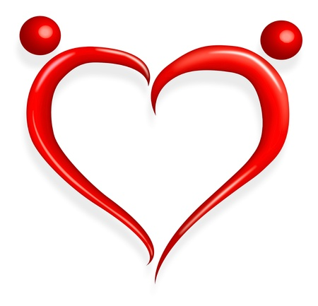 red love heart happy valentines day Stock Photo - 8597031