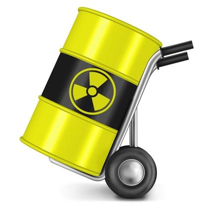 radioattivo: botte con attivo rifiuti nucleari Radio pericolo waiste centrale pericolosi di radiazioni gamma radioattivo dell'uranio radio splendore rischio