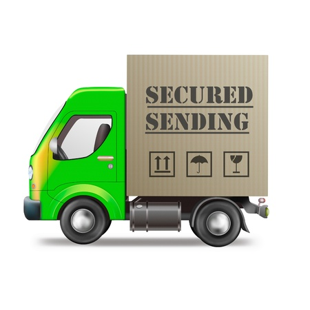 distributing: secured sending mail protection of privacy security in transportation Stock Photo