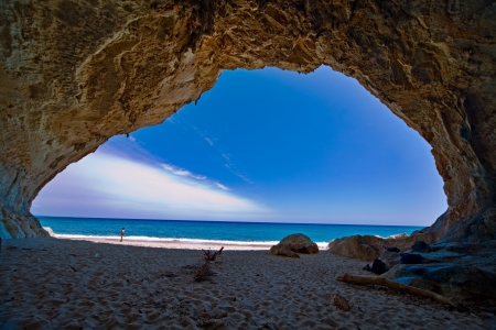 mağara: cave paradise blue sea and sky relaxation paradise on beach tourism tropical island Stok Fotoğraf
