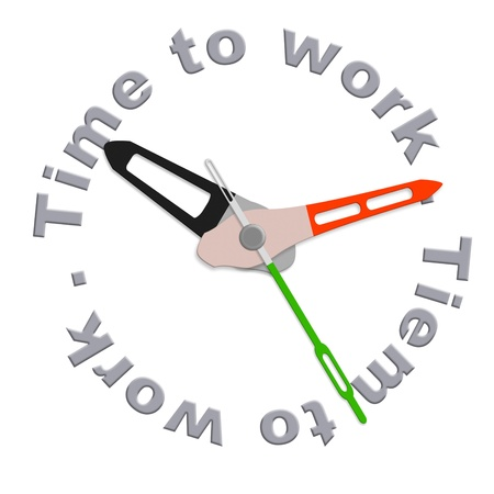 Time for work clock indicating working time do the job deadline working hours time scedule Stock Photo - 9497545