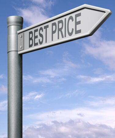 best price road sign button low price or bargain special offer Stock Photo - 9497570