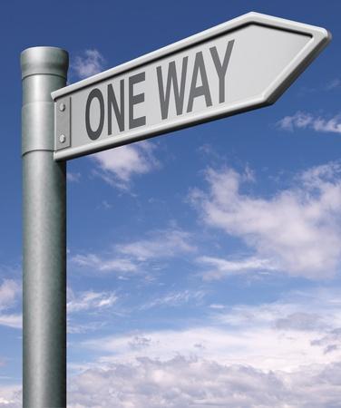 one way road sign arrow photo