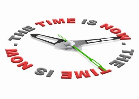 cronologia: ya es hora de vivir en el presente no en el futuro o el pasado actuar ahora vivir d�a a d�a reloj contando hacia abajo