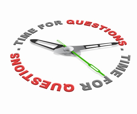 Time for questions, ask online and get answers and solutions to your problems. Pose question and find answer. photo