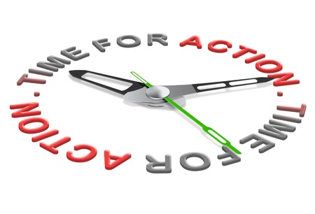 aspirations: action time start business or sport clock indicating moment for a new start or begin.