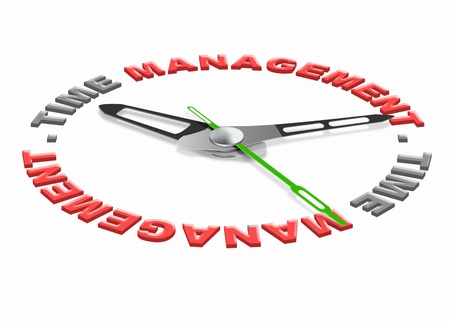 project management: time management project planning with a daily scedule to increase efficience and productivity. Organize your tasks set goals and dont waiste time. Stock Photo