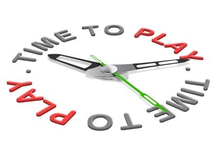 Spielzeit Spaß beim Spielen eines Spiels oder Sports während Urlaub oder Freizeit. Standard-Bild