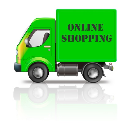 web shop online shopping internet icon package delivery shipping order Stock Photo - 9914369