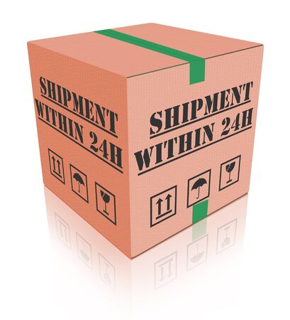 within: shipment within 24 hours, fast package delivery from online internet web shop