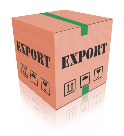 export sending package international trade parcel delivery cargo shipment worldwide exportation photo