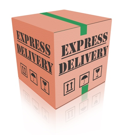 ship order: express delivery fast sending speed parcel posting cardboard box package shipment ship order