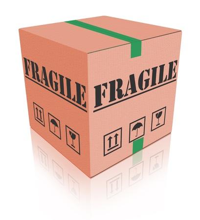 fragile post package sending delicate shipment cardboard box photo