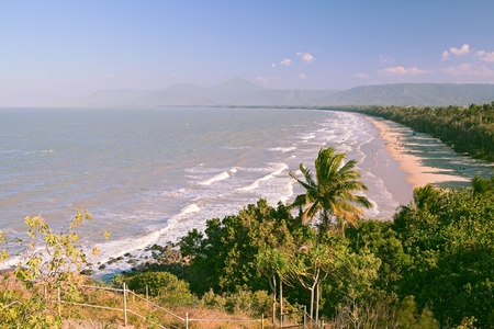 mile: port douglas australia 4 mile beach tropical rainforest coastline queensland
