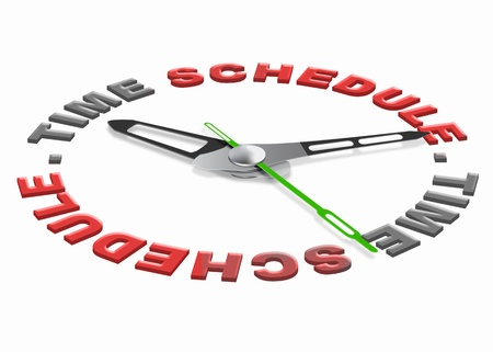 time schedule planning tasks in agenda setting goals and organize the day or meeting appointment on the agenda time management and daily organization Stock Photo - 10806632
