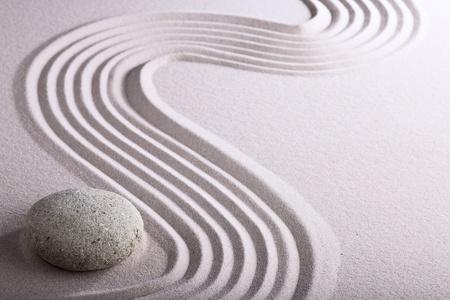 zen garden: zen garden japanese garden zen stone with raked sand and round stone tranquility and balance ripples sand pattern