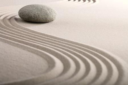 zen sand stone garden japanese meditation relaxation and spa image spiritual balance round rock photo