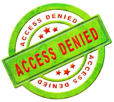 access denied closed Stock Photo - 12440963