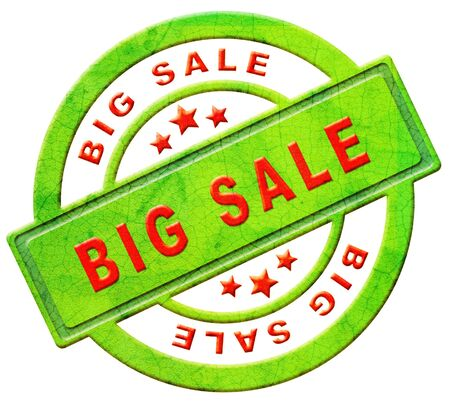 big deal: big sale sell online at web shop for low price or bargain special offer massive reduction icon or stamp in red text isolated on white
