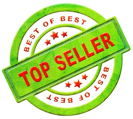 top seller icon bestseller best seller red text on green button for online internet web shop sales concept and shopping photo