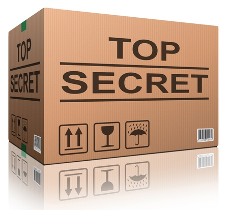 top secret confidential information or classified info big important secret  Stock Photo - 12443434