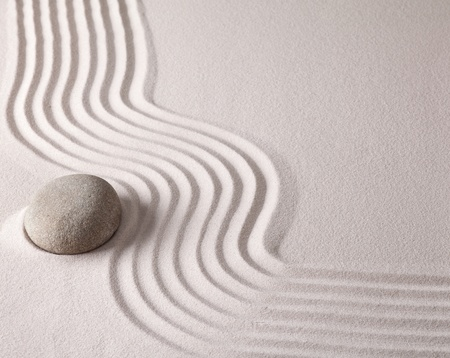 sand stone: zen buddhism spiritual japanese rock garden abstract harmony and balance concept for purity concentration meditation and spa relaxation sand and stone